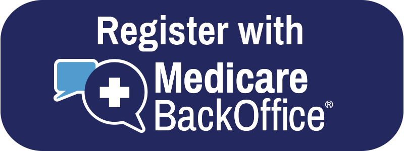 Register with Medicare BackOffice